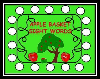 Apple Basket Back To School Sight Words
