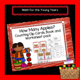 Apple Basket Counting Clip Cards, Poster, Book, and Worksh