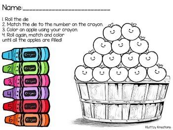 Apple Basket Dice Rolling Sheet