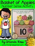 Apple Basket Number Sense Activity {Representing Numbers 0-20}