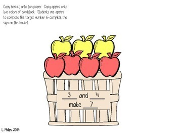 Apple Basket Number Sense Craftivity