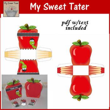 Apple Basket Printable Treat Box