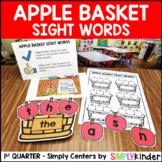 Apple Basket Sight Words Center - Smart Center