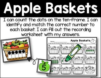 Apple Baskets - Ten-Frame Identification