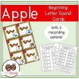Apple Beginning Letter Sound Sorting Cards