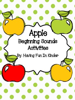 Apple Beginning Sounds Activities