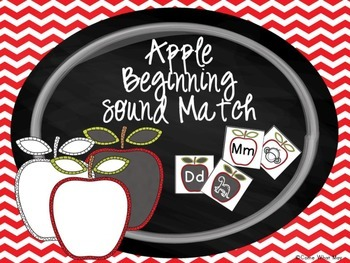 Apple Beginning Sounds Match