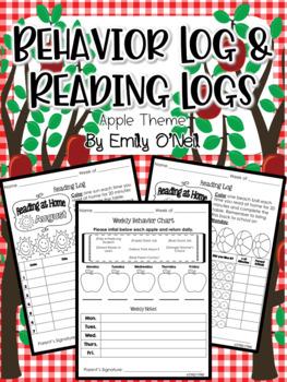 Behavior Log & Reading Logs (Apple Theme)