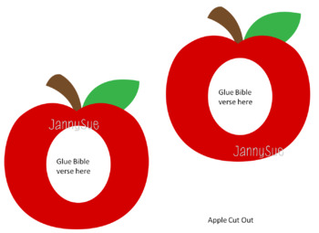 Apple Bible Verse craft