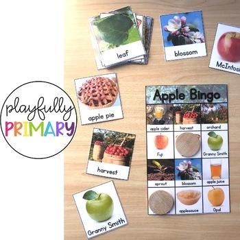Apple Bingo - Nonfiction Literacy Activity