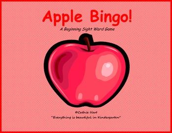 Apple Bingo Sight Word Game