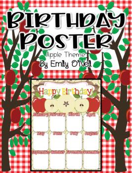 Birthday Poster (Apple Theme)