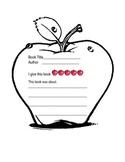 Apple Book Report Sheet