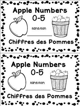 Apple Book with Numbers 1-5