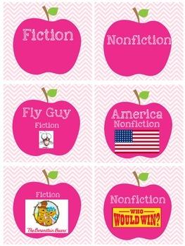 Apple Bookbin Labels-AR & Genre