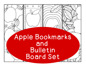 Apple Bookmarks Autumn Fall Back to School Printable Coloring Page PDF