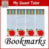 Apple Bookworm Bookmarks Printable