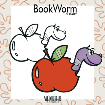 Apple & Bookworm Clipart