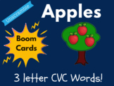 Apple Boom Cards - 3 Letter CVC Words! (Distance Learning,