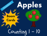 Apple Boom Cards - Counting 1 to 10 (Distance Learning, Ba