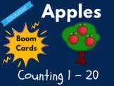 Apple Boom Cards - Counting 1 to 20 (Distance Learning, Ba
