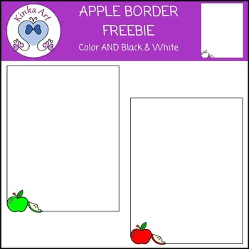 Apple Borders FREEBIE
