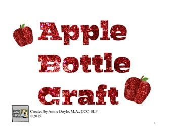 Apple Bottle Craft