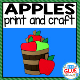 Apple Bucket Craft Paper Activity and Creative Writing