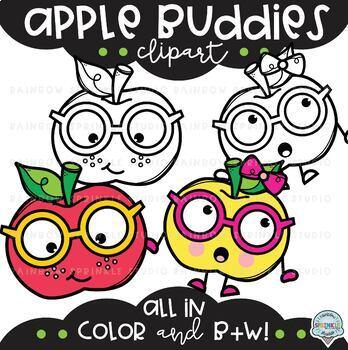 Apple Buddies Clipart {apples clipart}