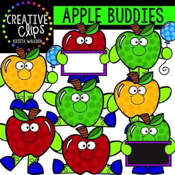 Apple Buddies {Creative Clips Digital Clipart}