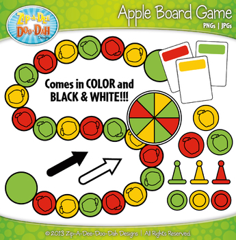 Apple Build A Board Game Clipart {Zip-A-Dee-Doo-Dah Designs}