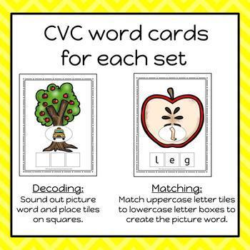 Apple Build A CVC Word Cards - S