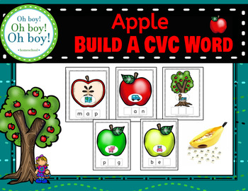 Apple Build A CVC Word Cards - S