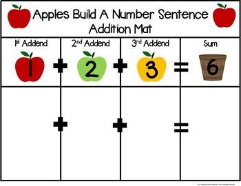 Apple Build a 3 Addend Number Sentence