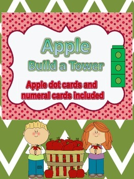 Apple Build a Tower with Dot Cards and Numeral Cards