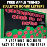 Apple Bulletin Board Letters FREEBIE