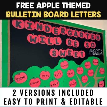 Apple Bulletin Board Letters FREEBIE