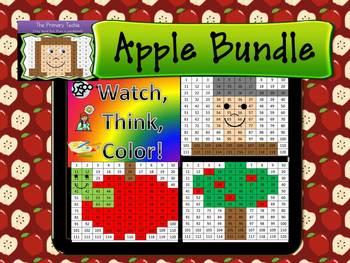 Apple Bundle Watch, Think, Color Mystery Pictures - EXPANDING BUNDLE