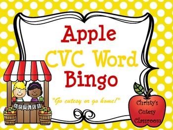 Apple CVC Word Bingo