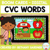Apple CVC Words - Boom Cards - Distance Learning