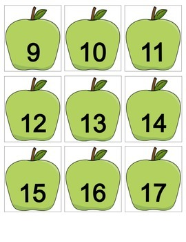 Apple Calendar Cards with an AB Pattern