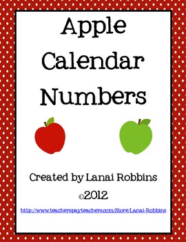Apple Calendar Number Cards