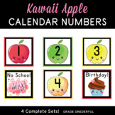 Apple Calendar Number Cards, Autumn, Fall, Back to School