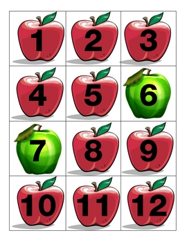 Apple Calendar Pieces Red and Green AAAAAB Pattern