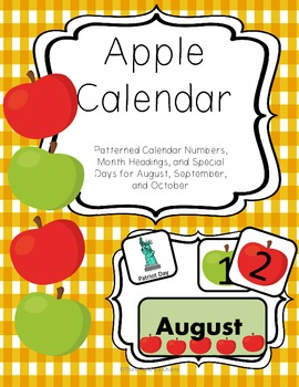 Apple Calendar Set for August, September, and October