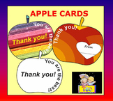 Apple Cards for Teachers - Coloring Activities - Clipart - Back to school
