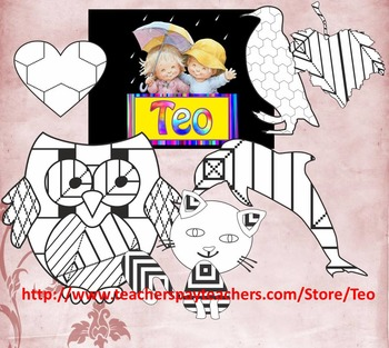 Apple Cards for Teachers - Coloring Activities - Clipart - End of Year