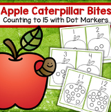 Apples Counting to 15 Fine Motor Center Using Bingo Dot Markers