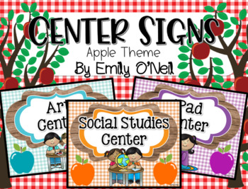 Center Signs (Apple Theme)