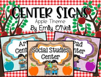 Center Signs (Apple Theme)